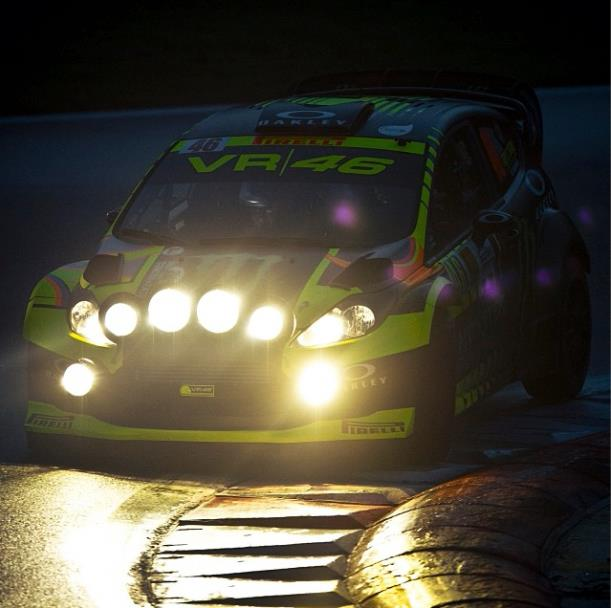 VALENTINO ROSSI READY FOR MONZA RALLY SHOW DRIVE BY FORD FIESTA WRC