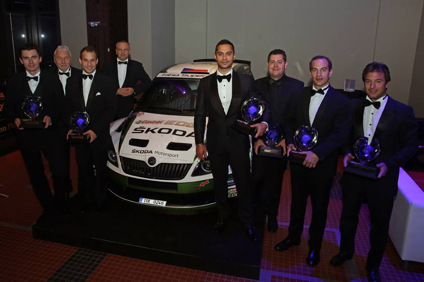 ŠKODA DRIVERS HONOURED AT FIA GALA IN PARIS