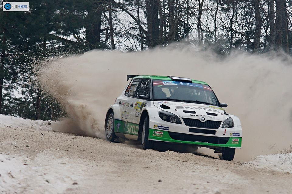 ŠKODA IN THE LEAD AT THE RALLY LATVIA WITH LAPPI/FERM