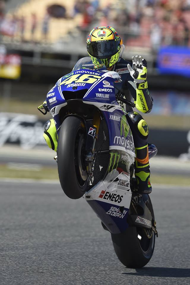 VALENTINO ROSSI STORMS TO SECOND IN DRAMATIC CATALUNYA CLASH