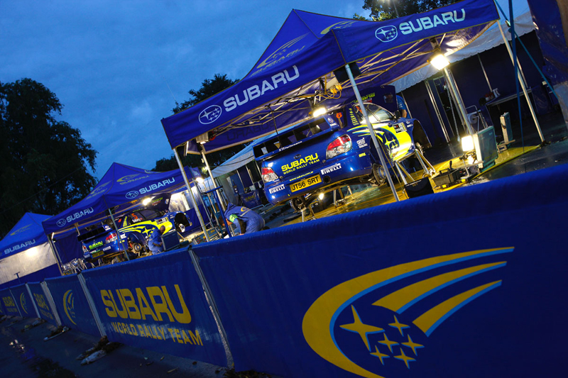 SWRT service area at the start of  the Shakedown Test for Rally Argentina 2008.