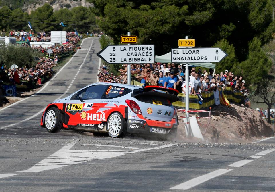 HYUNDAI SHELL WORLD RALLY TEAM: SHOWS POSITIVE PACE AFTER OPENING STAGES IN SPAIN