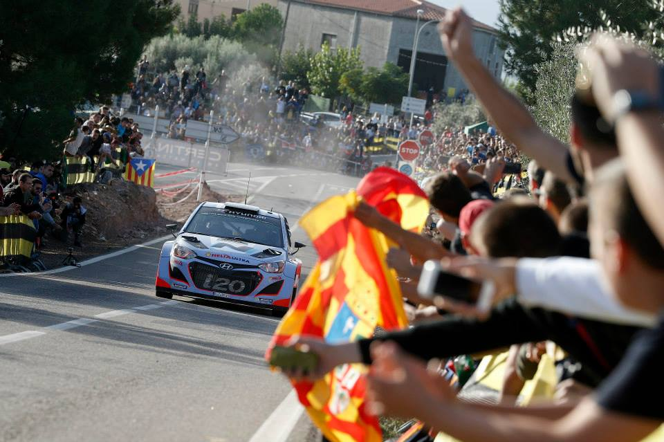 HYUNDAI SHELL WORLD RALLY TEAM: DELIVERS CONSISTENT IMPROVEMENT DURING DAY TWO IN SPAIN