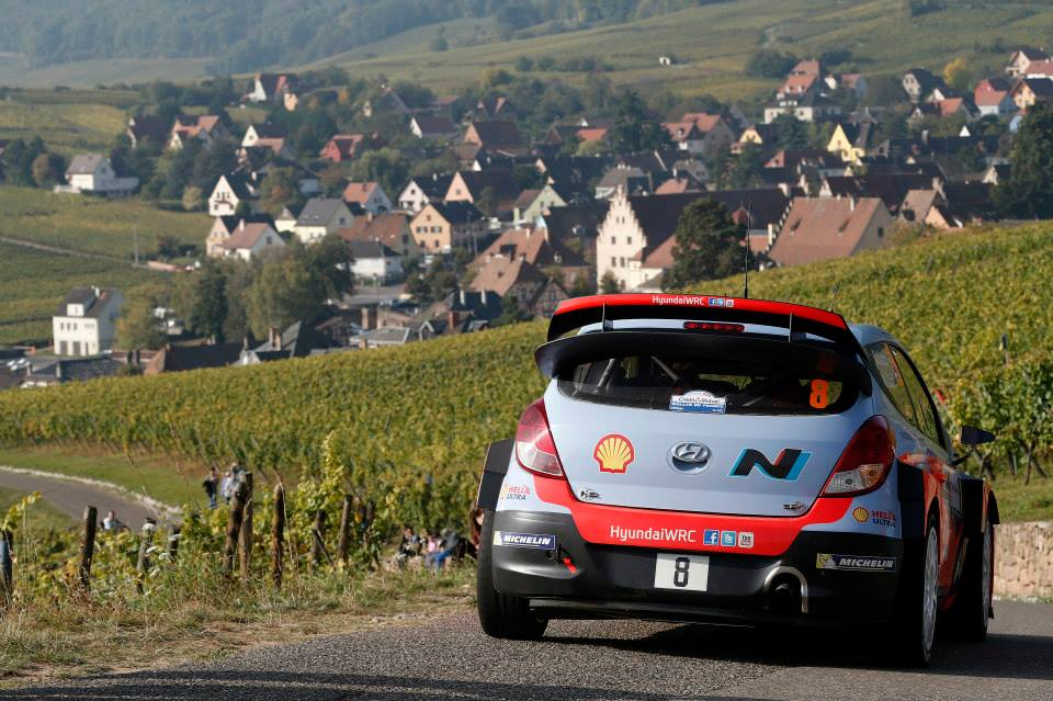 HYUNDAI SHELL WORLD RALLY TEAM: RALLY DE FRANCE-ALSACE DAY THREE