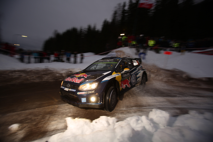 FIA WORLD RALLY CHAMPIONSHIP 2015: VOLKSWAGEN RED BULL MOTORSPORT-NORWAY'S DAY- MIKKELSEN/FLOENE LEAD THE RALLY SWEDEN WITH VOLKSWAGEN