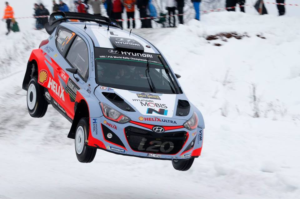 FIA WORLD RALLY CHAMPIONSHIP 2015: HYUNDAI SHELL WORLD RALLY TEAM-STRONG START FOR THE HYUNDAI MOTORSPORT TRIO IN RALLY SWEDEN'S WINTER WONDERLAND
