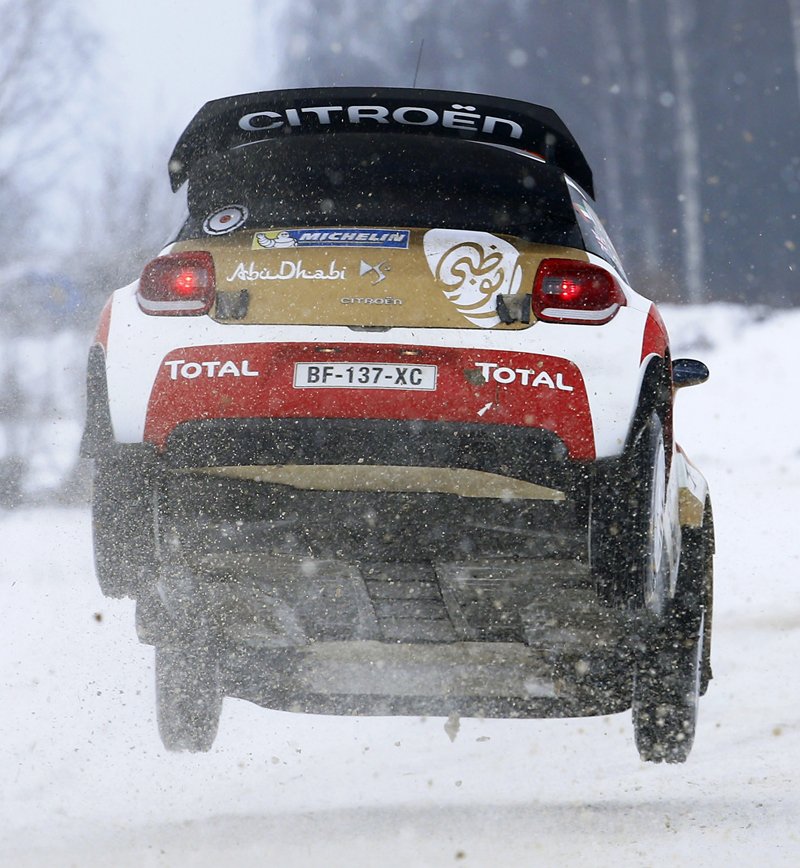 FIA WORLD RALLY CHAMPIONSHIP 2015: CITROËN & DS TOTAL ABU DHABI WORLD RALLY TEAM-SNOW AND ICE FOR THE DS 3 WRCS