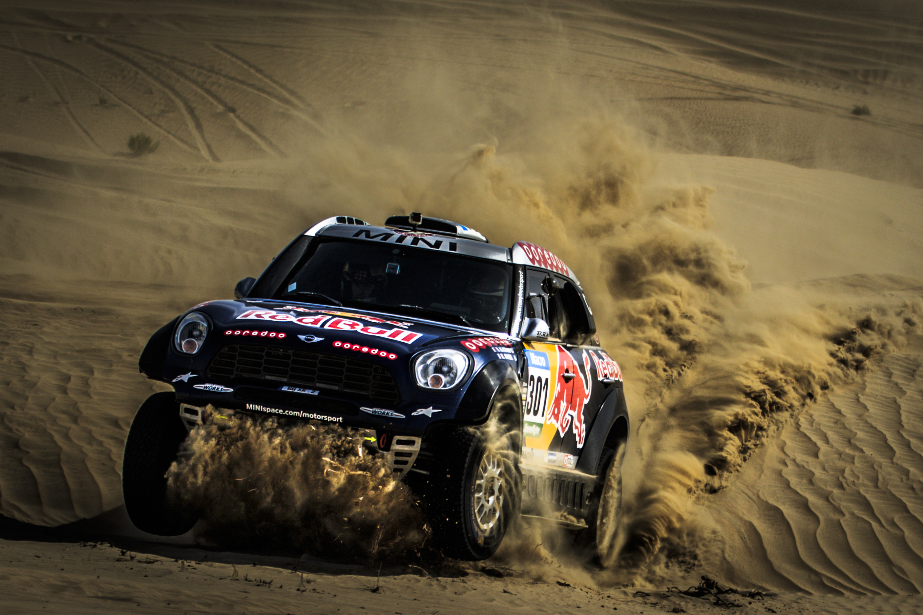 ABU DHABI DESERT CHALLENGE 2015: QATAR RED BULL RALLY TEAM- DAKAR WINNERS NASSER AL-ATTIYAH AND MATHIEU BAUMEL BACK IN ABU DHABI ACTION