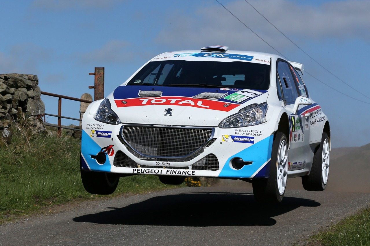 FIA EUROPEAN RALLY CHAMPIONSHIP (ERC) 2015: PEUGEOT SPORT RALLY ACADEMY-CIRCUIT OF IRELAND RALLY: THE PEUGEOT RALLY ACADEMY OUT IN FULL FORCE!