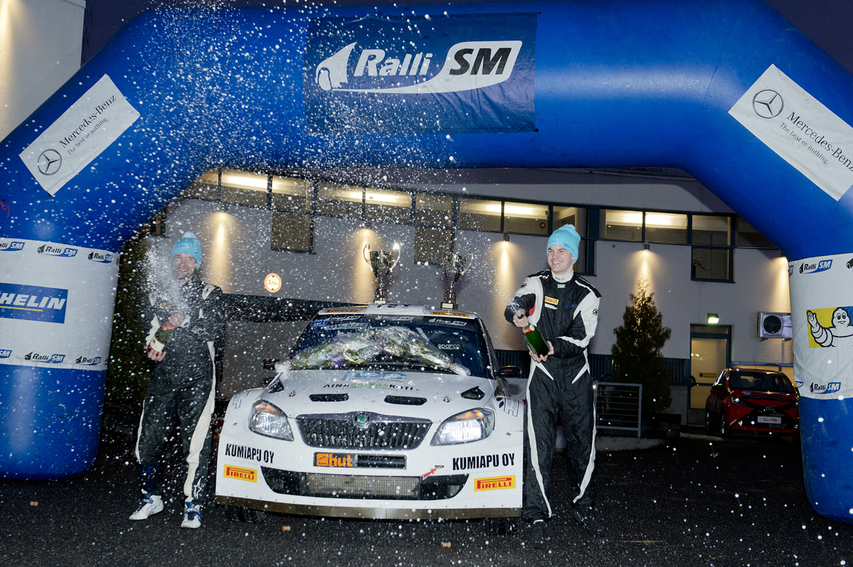 FINNISH RALLY CHAMPIONSHIP (FRC) 2015: TGS WORLDWIDE TEAM-SUNINEN AND TGS TEAM ON FRC PODIUM AGAIN, THIS TIME IN SEINÄJOKI