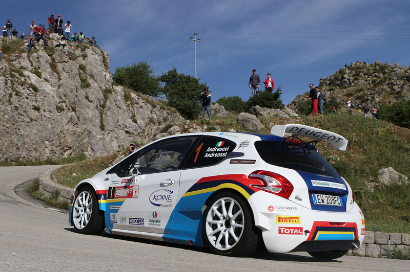 ITALIAN RALLY CHAMPIONSHIP (CIR 2015): PAOLO ANDREUCCI AND ANNA ANDREUSSI, PEUGEOT 208 T16 R5 WIN THE 99TH TARGA FLORIO