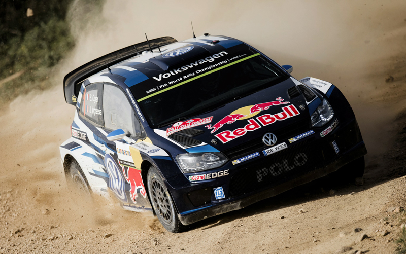 Sebastien Ogier performs during FIA World Rally Championship 2015 Italy,  in Alghero Italy on June 13, 2015 // Jaanus Ree/Red Bull Content Pool // P-20150614-00006 // Usage for editorial use only // Please go to www.redbullcontentpool.com for further information. //