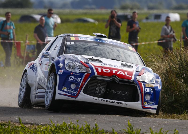 02 ABBRING Kevin TSJOEN Pieter Citroen DS3 R5 action during the 2015 European Rally Championship ERC Ypres Rally,  from June 18 to 20th 2015 at Ypres, Belgium. Photo Florent Gooden / DPPI
