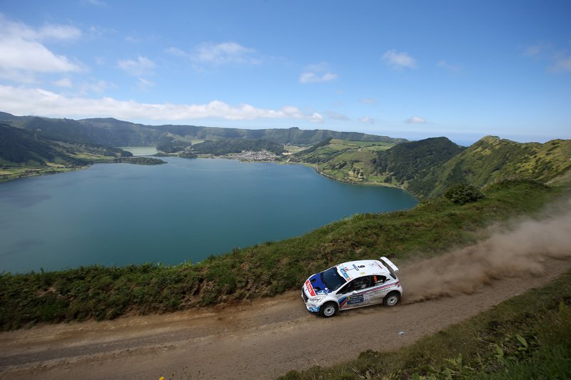 06 MARTIN Charles SALVA Thierry PEUGEOT 208 T16 action during the 2015 European Rally Championship ERC Azores rally,  from June 3 to 6th, at Ponta Delgada, Portugal. Photo Gregory Lenormand / DPPI