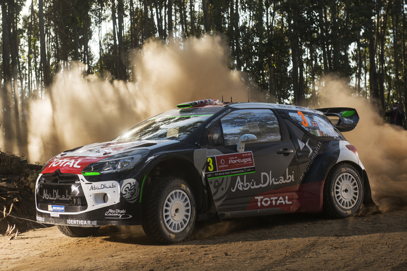 Kris Meeke performs during FIA World Rally Championship 2015 Portugal in Porto, Portugal on may 21