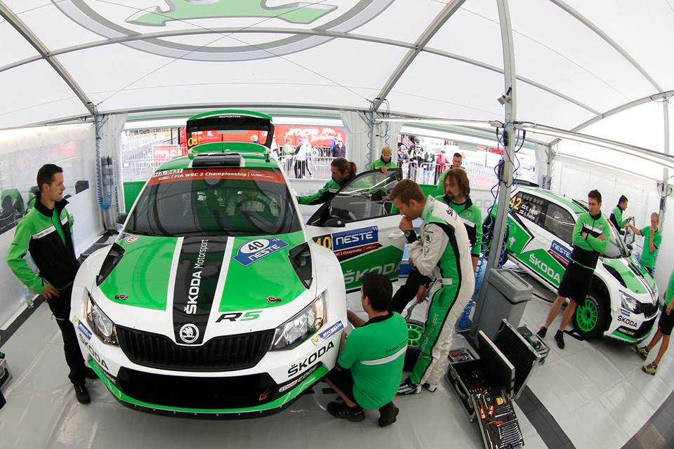 FIA WORLD RALLY CHAMPIONSHIP (WRC2 – 2015) – ŠKODA MOTORSPORT – ŠKODA DRIVER LAPPI LEAVES RIVALS IN HIS WAKE AT HOME RACE