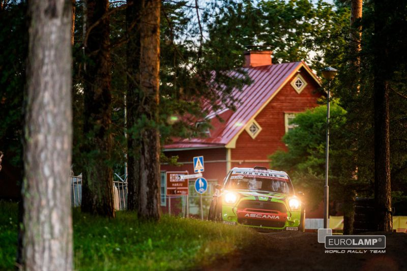 FIA WORLD RALLY CHAMPIONSHIP (WRC2 – 2015): MINI EUROLAMP WORLD RALLY TEAM – RALLY FINLAND. AHEAD – OF – SCHEDULE FINISH