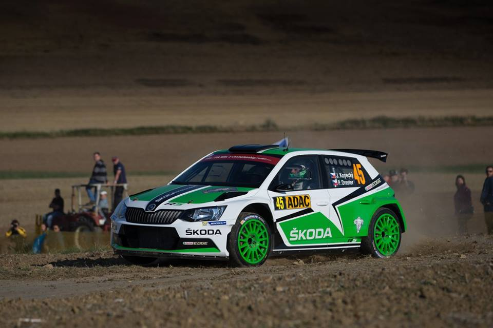 FIA WORLD RALLY CHAMPIONSHIP (WRC2 – 2015):  ŠKODA MOTORSPORT – RALLY GERMANY: JAN KOPECKY LEADS WRC 2 IN THE ŠKODA FABIA R5