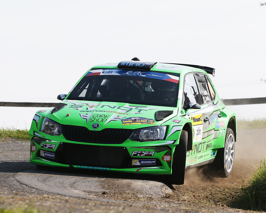 08 KOSTKA Tomas KOSTKA Lukas Skoda Fabia R5 Action during the 2015 European Rally Championship ERC Barum rally,  from August 27 to 30th, at Zlin, Czech Republic. Photo Alexandre Guillaumot / DPPI