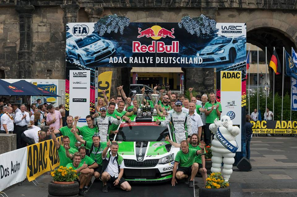 FIA WORLD RALLY CHAMPIONSHIP (WRC 2 – 2015) – ŠKODA MOTORSPORT – KOPECKÝ CLINCHES HAT-TRICK OF WINS FOR THE ŠKODA FABIA R5 IN THE WRC 2.