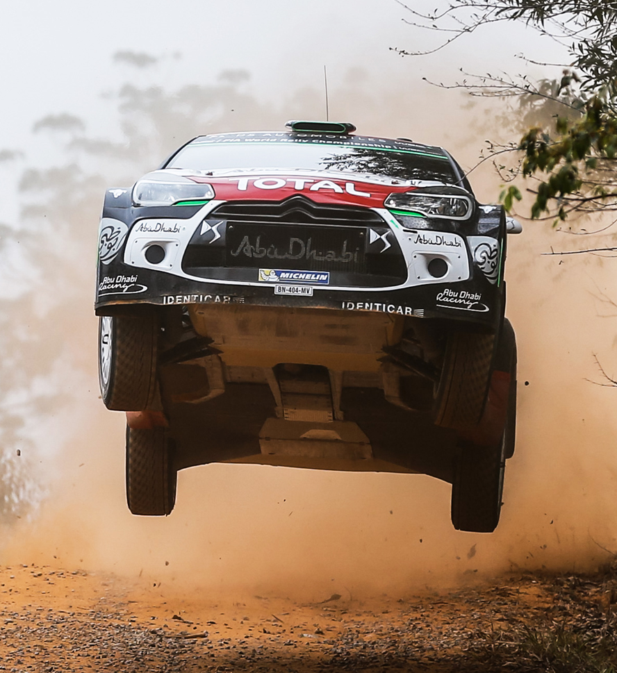 03 Citroen Total Abu Dhabi WRT, Meeke Kris, Nagle Paul, DS3 WRC, Action WRC RALLY AUSTRALIA  2015  - PHOTO : CITROEN RACING/AUSTRAL