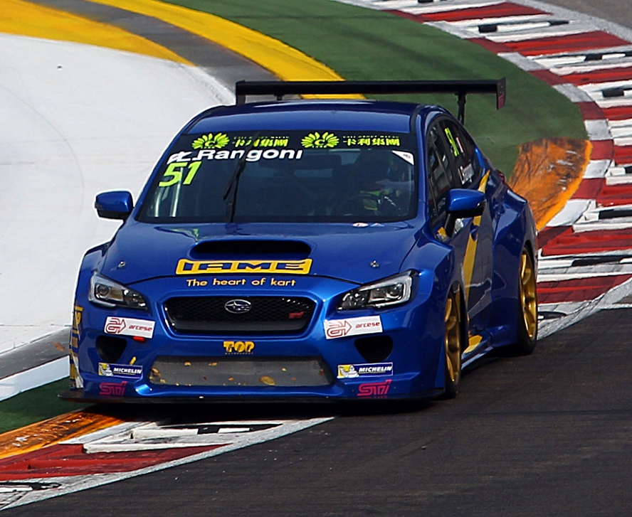 TCR INTERNATIONAL SERIES (TCR 2015): TOP RUN SUBARU MOTORSPORT – A DEBUT TO REMEMBER FOR TOP RUN AND RANGONI