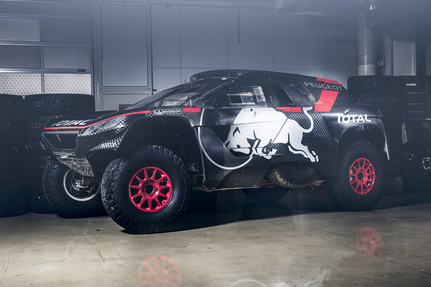 The 2008 DKR 16 in Peugeot Sport workshop, France, on September 21, 2015