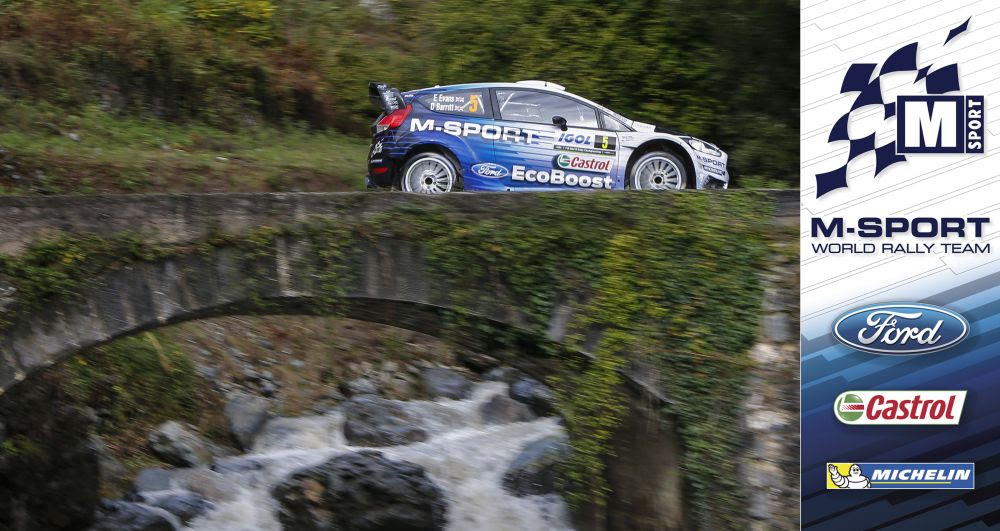 FIA WORLD RALLY CHAMPIONSHIP (WRC 2015): M-SPORT WORLD RALLY TEAM – EVANS AND M-SPORT LEAD THE WAY AT THE TOUR DE CORSE