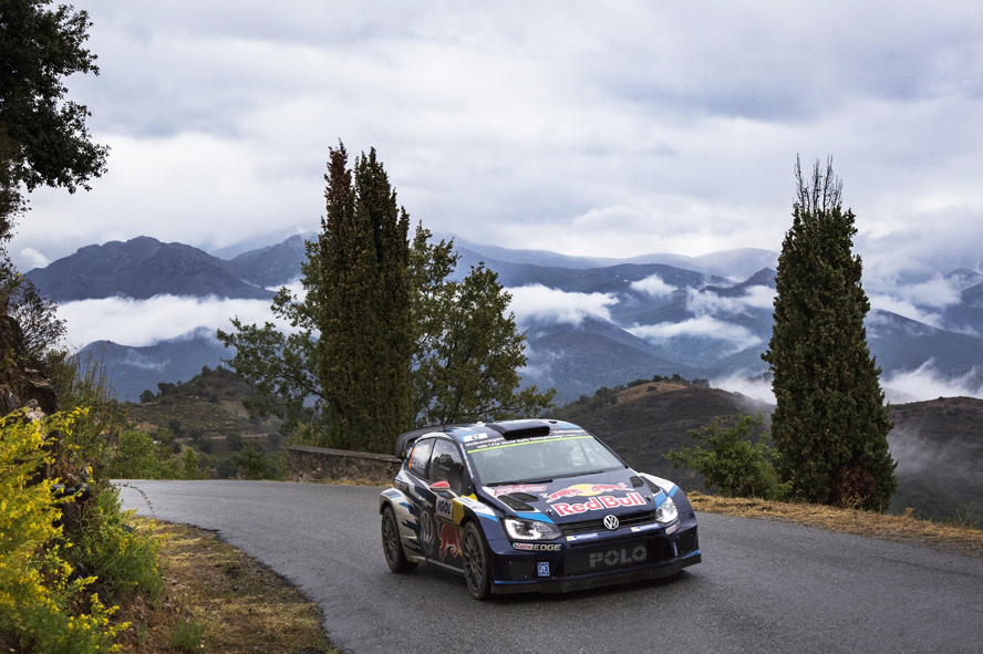 FIA WORLD RALLY CHAMPIONSHIP (WRC 2015): VOLKSWAGEN RED BULL MOTORSPORT – RAIN AND ADVERSE WEATHER MAKE FOR DRAMATIC FEW DAYS – VOLKSWAGEN AMONG FRONT-RUNNERS IN SHAKEDOWN ON CORSICA