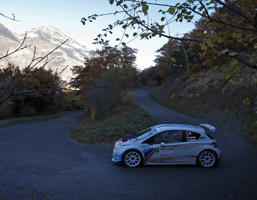 01 BREEN Craig MARTIN Scott Peugeot 208 T16  ambiance portrait during the 2015 European Rally Championship ERC Valais rally,  from October 29 to 31th, at Sion, Switzerland. Photo Gregory Lenormand / DPPI
