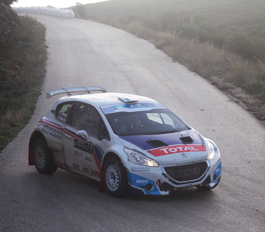 FIA EUROPEAN RALLY CHAMPIONSHIP (WRC 2015): PEUGEOT SPORT RALLY ACADEMY – CRAIG BREEN POORLY REWARDED IN GREECE