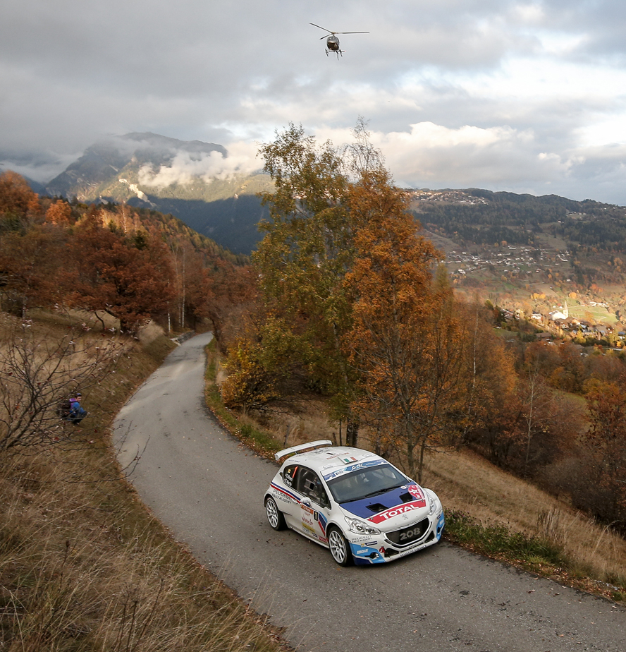 01 BREEN Craig MARTIN Scott Peugeot 208 T16 action during the 2015 European Rally Championship ERC Valais rally,  from October 29 to 31th, at Sion, Switzerland. Photo Alexandre Guillaumot / DPPI