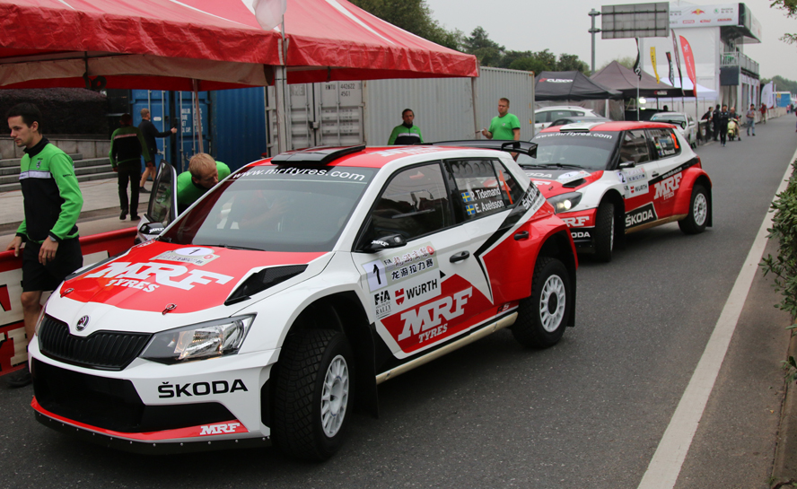 ASIA PACIFIC RALLY CHAMPIONSHIP (APRC 2015): ŠKODA MRF TEAM – TIDEMAND DOMINATES IN THE ŠKODA FABIA R5 IN CHINA