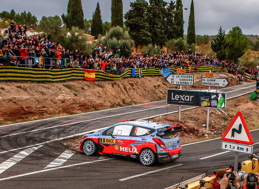 FIA WORLD RALLY CHAMPIONSHIP (WRC 2015): RALLY DE ESPAÑA – HYUNDAI SHELL WORLD RALLY TEAM – HYUNDAI MOTORSPORT DRIVERS KEEP UP THE PRESSURE ON PENULTIMATE DAY IN SPAIN