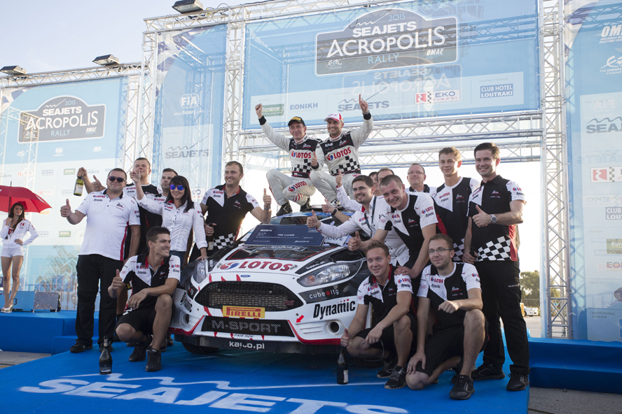 FIA EUROPEAN RALLY CHAMPIONSHIP (ERC 2015): ERC ACROPOLIS RALLY: KAJETANOWICZ BECOMES 2015 FIA EUROPEAN RALLY CHAMPIONSHIP AFTER WINNING WEATHER-SHORTENED ACROPOLIS RALLY