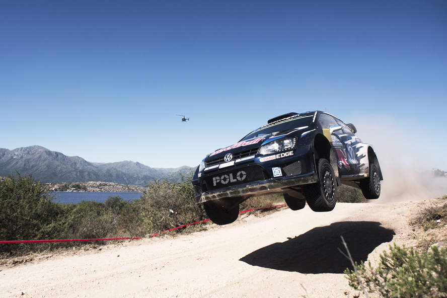 Sebastien Ogier performs during FIA World Rally Championship 2015  Argentina in Villa Carlos Paz, Argentina on April 25, 2015