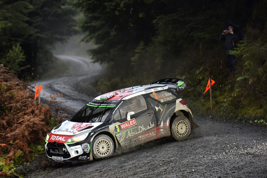 WRC  - WALES RALLY GB 2015  - PHOTO : CITROEN RACING/AUSTRAL 03 Citroen Total Abu Dhabi WRT, Meeke Kris, Nagle Paul, DS3 WRC, Action