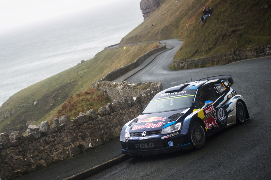 Sebastien Ogie races during  FIA World Rally Championship in Deeside, Great Britain on 15 November 2015