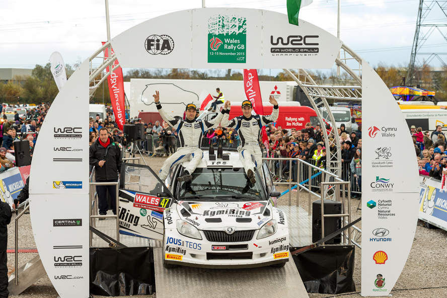 FIA WORLD RALLY CHAMPIONSHIP (WRC – 2 – 2015): TEEMU SUNINEN'S SPECTACULAR WIN AT RALLY WALES IN CLASS RC – WALES RALLY GB – TGS TEAM WORLDWIDE
