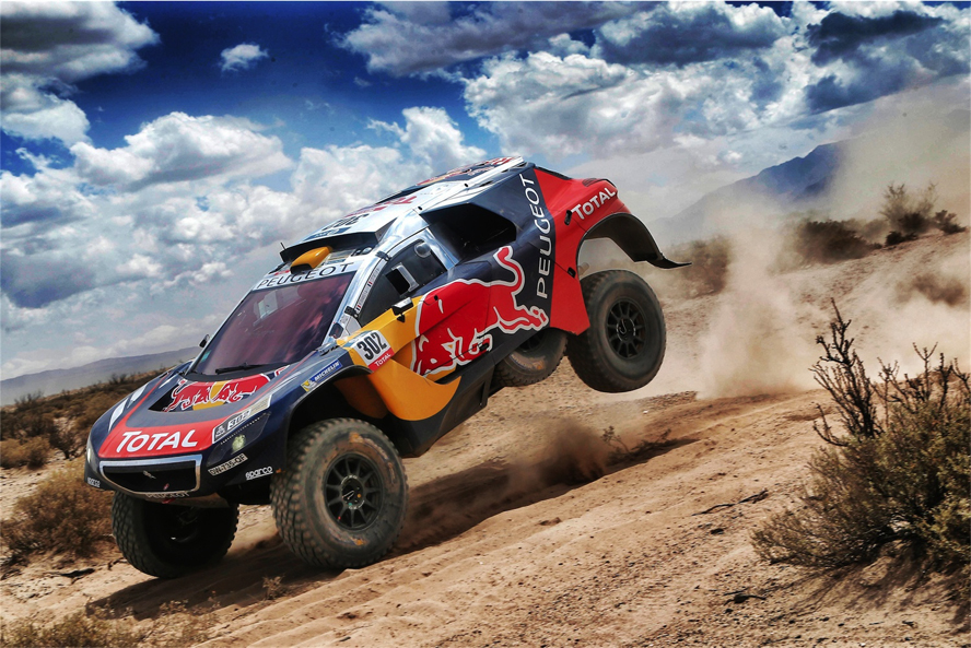 302 PETERHANSEL Stephane (fra) COTTRET Jean Paul (fra) PEUGEOT action during the Dakar 2016 Argentina;  Bolivia; Etape 8 / Stage 8; Salta - Belen on  January 11; 2016 - Photo Andre Lavadinho / Artwolrd / ASO