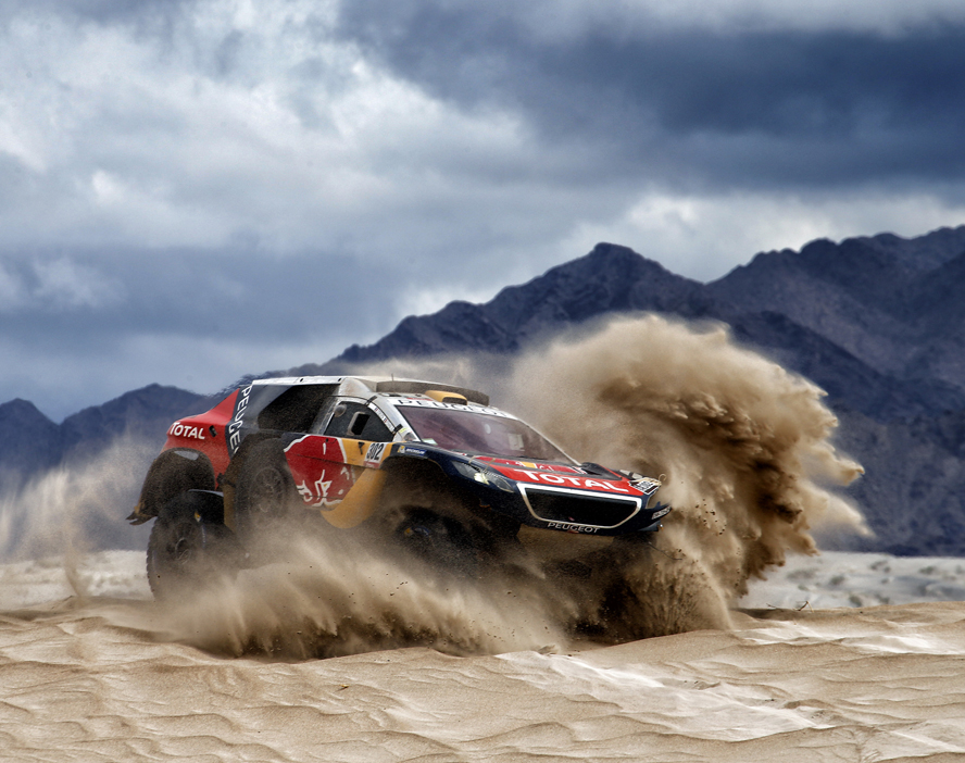 Stephane Peterhansel (FRA) from Team Peugeot Total performs during stage 10 of Rally Dakar 2016 from Belen to La Rioja, Argentina on January 13, 2016.