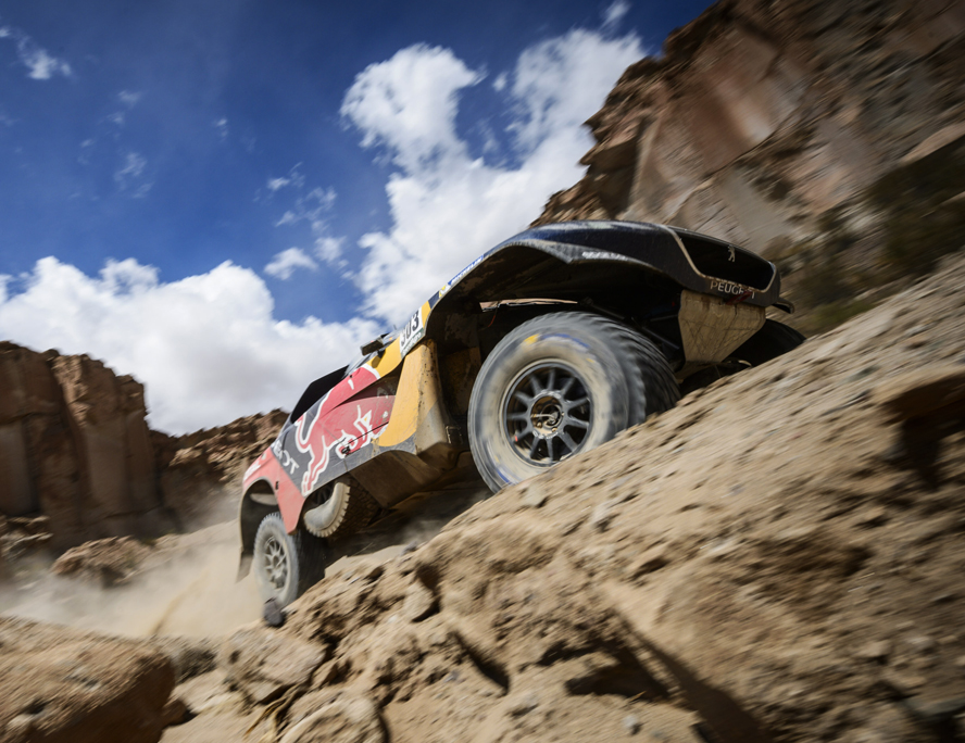 Carlos Sainz (ESP) of Team Peugeot-Total races during stage 04 of Rally Dakar 2016 around Jujuy, Argentina on January 6, 2016