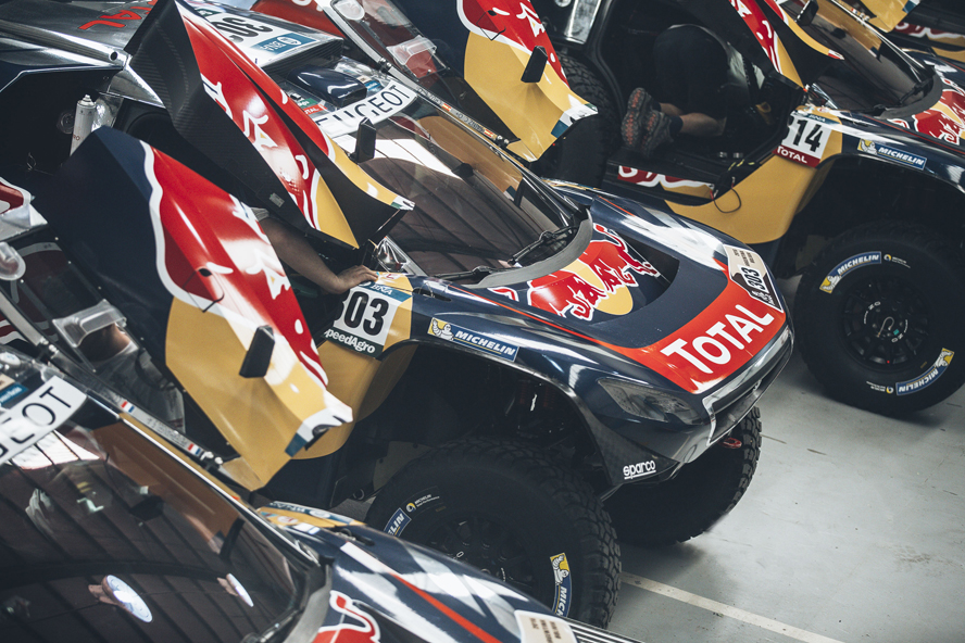 Peugeot 2008 DKR16  before  the Rally Dakar 2016  in Buenos Aires, Argentina on December 31 2015