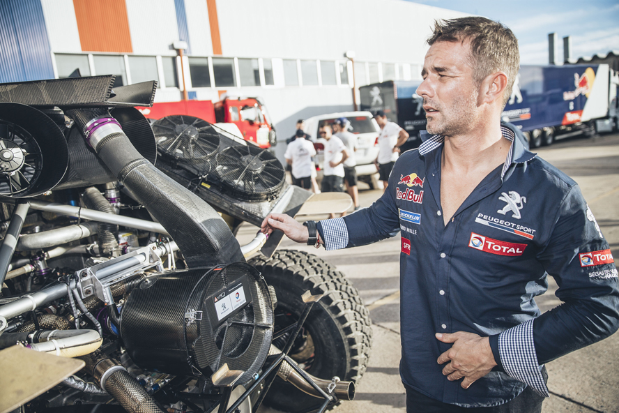 Sebastien Loeb (FRA) from Team Peugeot Total is seen before the Rally Dakar 2016 in Buenos Aires, Argentina on December 31, 2015