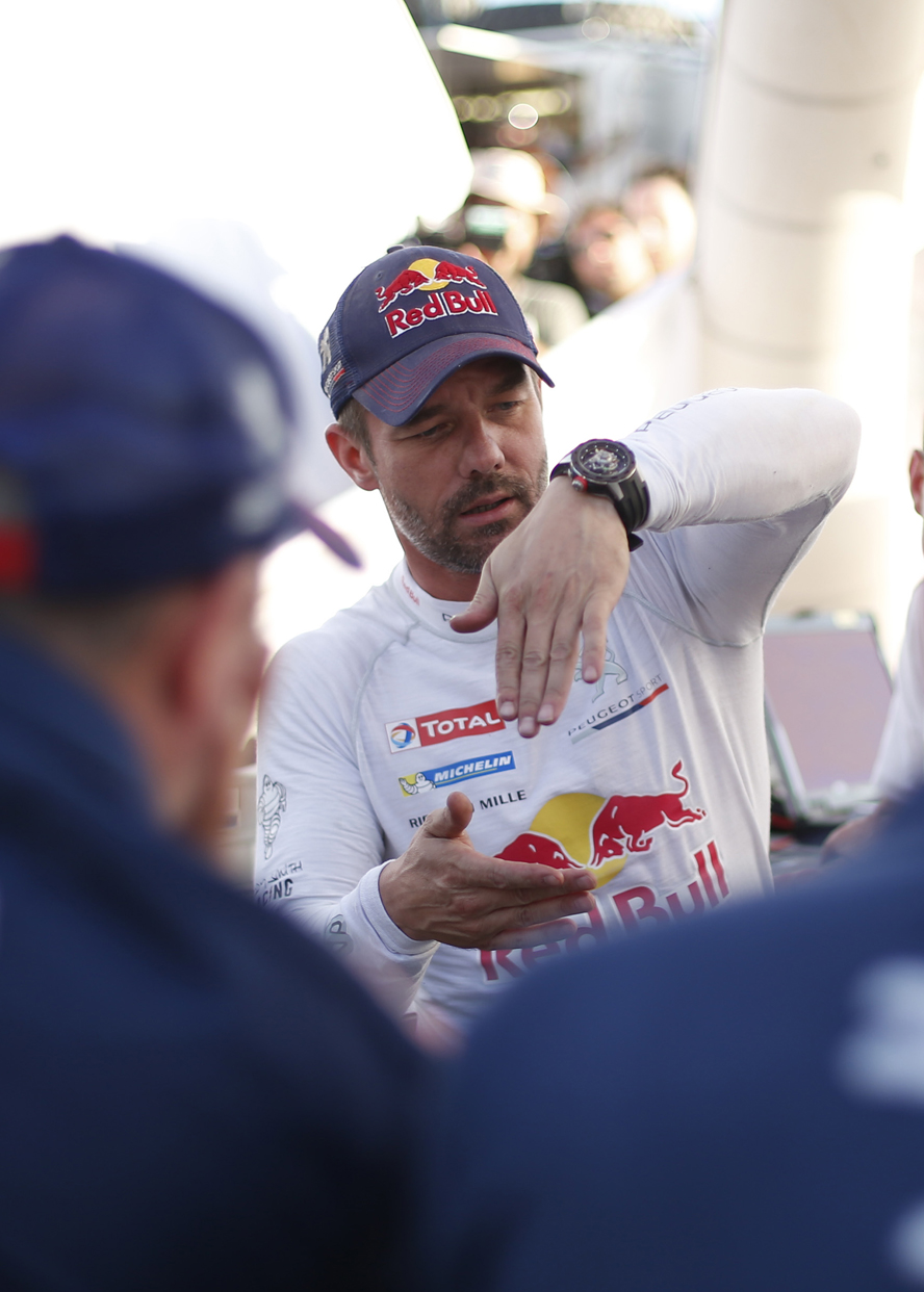 Sebastien Loeb (FRA) from Peugeot Total Team is seen after the crash during stage 8 of Rally Dakar 2016 from Salta to Belen, Argentina on January 11, 2016.