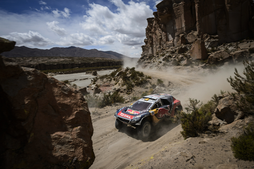 Stephane Peterhansel (FRA) of Team Peugeot-Total races during stage 04 of Rally Dakar 2016 around Jujuy, Argentina on January 6, 2016
