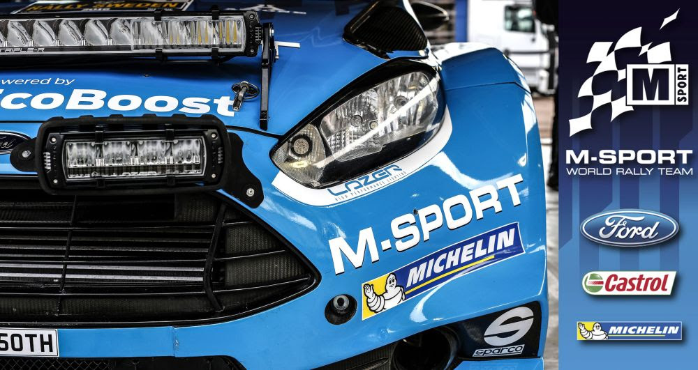 FIA WORLD RALLY CHAMPIONSHIP (WRC 2016): M-SPORT ANNOUNCE NEW PARTNERSHIP WITH LAZER LAMPS