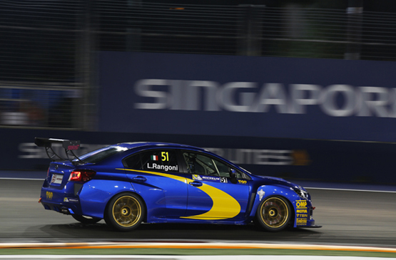 2015 TCR International Series Round 9. Marina Bay Circuit, Singapore. Saturday 19 September 2015. Luca Rangoni, No.51 Top Run Motorsport. World Copyright: Sam Bloxham/LAT Photographic. ref: Digital Image _SBL8371