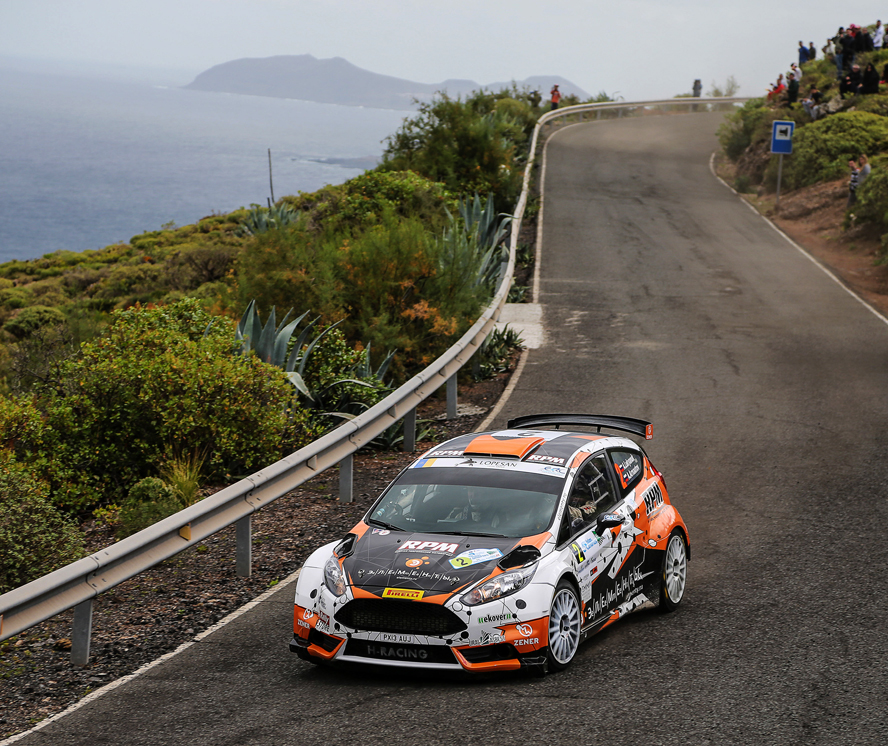 02 Alexey LUKYANUKAlexey ARNAUTOV Ford Fiesta R5 ACTION during the 2016 European Rally Championship ERC Rally Islas Canarias, El Corte Inglés, from March 10 to 12, at Las Palmas, Spain - Photo Jorge Cunha / DPPI