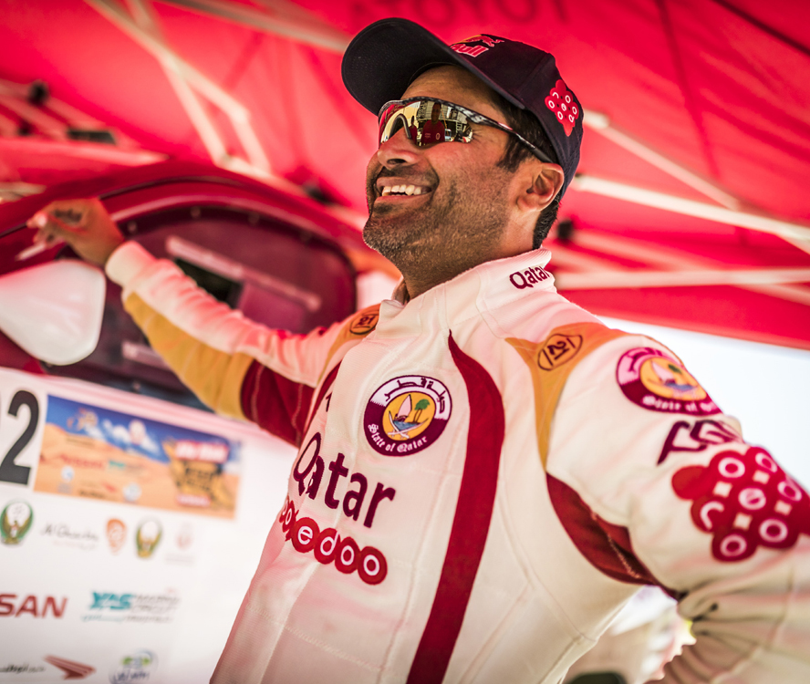 Nasser Al-Attiyah after third stage of the Abu Dhabi Desert Challenge, Abu Dhabi on April 5th. 2016